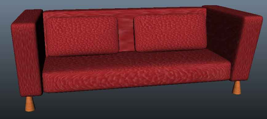 Sofa Modeling and Texuring